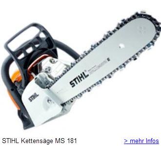 Stihl Kettensägen - Motorsäge MS 181 mit 35 cm Schnittlänge