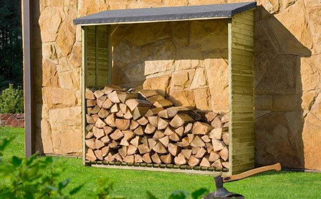 Kaminholzregal, Brennholzregal Aktion Holzlager von Gartenpirat
