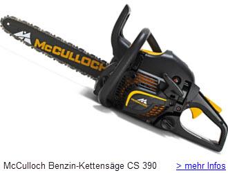 McCulloch Benzin-Kettensäge CS 390 16 Zoll