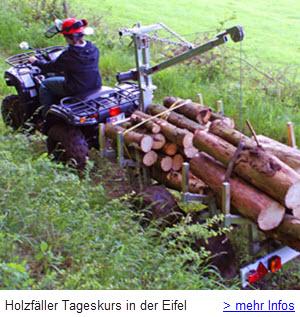 Holzfäller Tageskurs in der Eifel mit Kettensägen Umgang