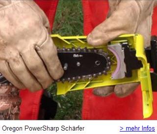 Oregon PowerSharp Sägeketten automatisch schärfen mit Schärfaufsatz